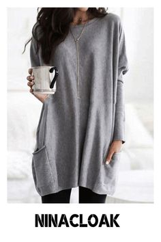 # Polyester # daily / Leisure # Round neck # autumn / winter / spring # Solid color # Long sleeve # Ten colors #