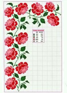 rose border and corner · Cross Stitch BordersCross Stitch FlowersCross . Cross Stitch Borders, Cross Stitch Rose, Crochet Borders, Cross Stitch Flowers, Cross Stitch Charts, Cross Stitch Designs, Cross Stitching, Cross Stitch Patterns, Ribbon Embroidery