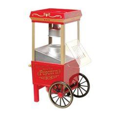 Rétro power ! Découvrez l'idée cadeau du jour : La machine à pop corn. En effet, celle-ci ressemble à celles de la fête foraine et fonctionne comme tel. A la fois un cadeau insolite, original et décoratif, la machine à pop corn rétro se retrouve sur http://www.pinklemon.fr ! Pinklemon, le zeste d'idées cadeaux déco.