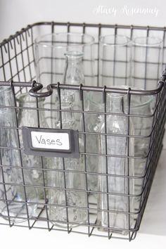 Superbe Wire Basket Storage {Styled X3