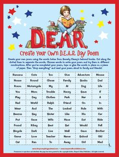 Create your own D.E.A.R. Day Poem