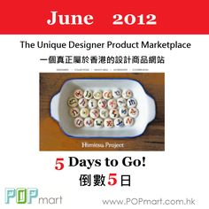 The unique HK designer product marketplace is going to launch on 26 Jun, Everybody let's count down with us!