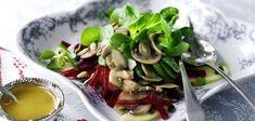 Winter-Salat mit Honig-Senf-Dressing
