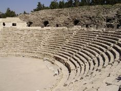 Amphitheater, Israel. This Amphitheater is located about 60 miles northwest of Jerusalem in Caesarea, Israel. The concerts at the Caesarea Amphitheater which take place mostly during the summer months are some of the most magical concerts in Israel. (V)