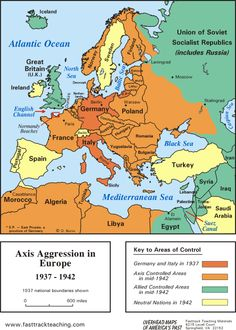 Map Of Europe During World War Ii World War Ii Was Fought During The