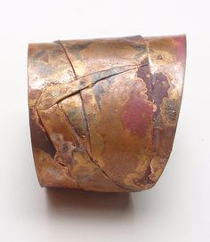 Cuff | Kest Schwartzman. Copper, torch coloured.