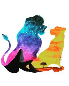 Disney Paintings, Disney Artwork, Disney Drawings, Simba Et Nala, Roi Lion Simba, Lion King Poster, Lion King Shirt, Simba Disney, Disney Lion King