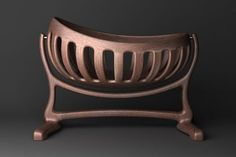 Handmade Sculpted Cradle in Walnut by Scott Morrison