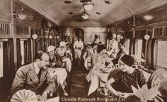 Train Restaurant Hotel East Africa, Kenya, Safari, The Past, Restaurant, History, Concert, Colonial, Postcards