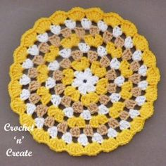 A crochet granny doily, I love this stitch pattern, I don't know about you but the granny stitch was one of the first stitches I was ............