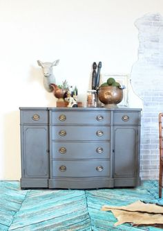 Heirloom Traditions Repose and Black Bean I { heart }Gray Painted Furniture - Refunk My Junk Grey Painted Furniture, Painted Bedroom Furniture, Trendy Furniture, Dining Room Furniture, Custom Furniture, Home Furniture, Furniture Design, Painted Dressers, Tall Dresser