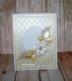 Ann Greenspan's Crafts: Ecstasy Crafts:  Elegant Lattice Oval Frame  Card