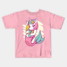 Cute and Beautiful Kids Mermaid Unicorn - Mermaid Unicorn - T-Shirt | TeePublic Unicorn Fantasy, Beautiful Children, Sisters, Mermaid, Funny, Cute, Cotton, Mens Tops, T Shirt