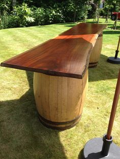The Stretch Tent Company Barrel Bar. We use barrels to create something just a little different. These can be taken individually to create tables to put drinks