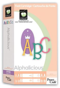 Cricut® Alphalicious Cartridge