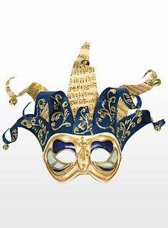 59,90€, Jolly colombina Monica bianco blu - Venezianische Maske