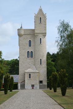 Ulster Memorial Tower stands on what was the German front line during the Battle of the Somme, July to November 1916.