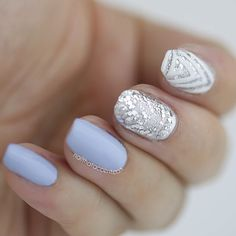 Elegant and Head-Turning Mani by @nailthataccent  • Using: Triangle Swirl Nail Vinyls www.snailvinyls.com