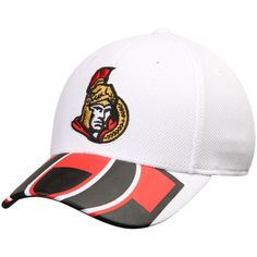 65efe0a8d Men s Reebok White Ottawa Senators Face Off Draft Flex Hat Ottawa