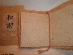Interior de las tarjetas con hologramas chinos en papel hecho a mano aptas para escritura a mano