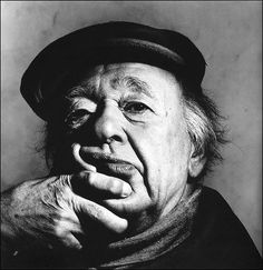 Eugène Ionesco,  New York, October 21, 1983, printed 1984. Gelatin silver print. Photographed by Irving Penn.