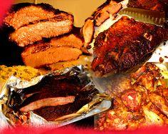 Mein Mann kocht gern BBQ, weil er aus Arkansas ist. Ich esse es auch gern!
