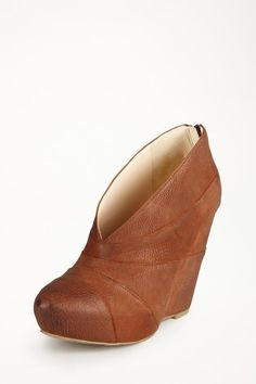 Wedge bootie.