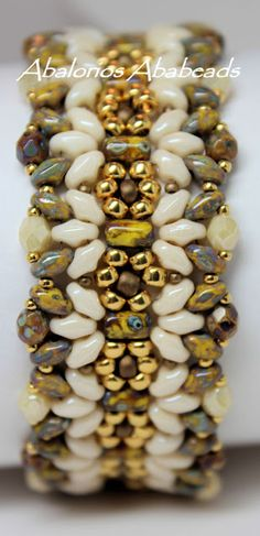 superduos from pattern of Ellad2 Margarita bracelete at http://ellad2.com/webshop/beading-patterns/tutorial-margarita-bracelet/