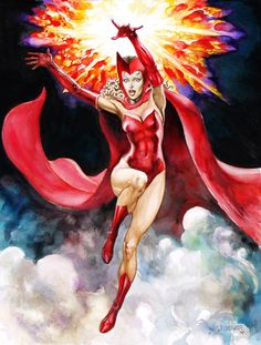 Scarlet Witch by geof isherwood