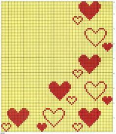 Cross Stitch Heart, Cross Stitch Borders, Cross Stitch Alphabet, Cross Stitch Flowers, Cross Stitch Designs, Cross Stitching, Cross Stitch Embroidery, Cross Stitch Patterns, Crochet Diagram