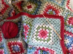Lovely colour combination in this granny blanket