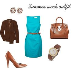 """""""Summer work outfit"""" by divineleonine on Polyvore"""