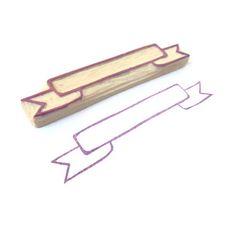 Banner DIY Rubber Stamp
