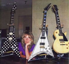 Randy Rhoads and his guitars.