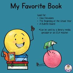 My Favorite Book (Free) Fun Classroom Activities, Library Activities, Teaching Activities, Teaching Tools, Teaching Resources, Middle School Writing, Middle School English, Teaching Language Arts, Teaching English