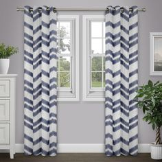 Shop for Journee Home 'Sanaa' Chevron 84 inch Grommet Top Curtain Panel. Free Shipping on orders over $45 at Overstock.com - Your Online Home Decor Outlet Store! Get 5% in rewards with Club O!