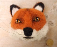needlefelted miniature fox head style faux taxidermy by feltfactory par fauxfauna sur Etsy https://www.etsy.com/fr/listing/196610129/needlefelted-miniature-fox-head-style