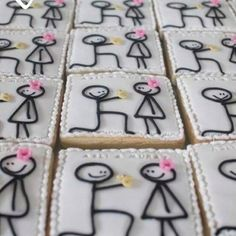 Bridal shower idea...are these not the cutest things you've ever seen?! Engagement Party Cookies, Engagement Parties, Sugar Cookie Royal Icing, Sugar Cookies, Perfect Cookie, Pide, Marry Me, Proposal, Bridal Shower
