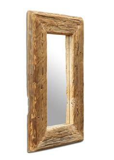 Spiegel mit Massivholzrahmen aus Fichte Altholz 60x100 21259. Buy now at https://www.moebel-wohnbar.de/spiegel-mit-massivholzrahmen-aus-fichte-altholz-60x100-21259.html