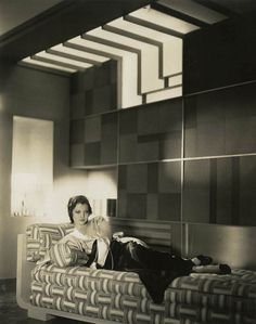"Sylvia Sidney, by Elwood ""Woody"" Bredell (1931). Note the Art Deco details in the set design."