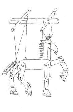 marionett häst