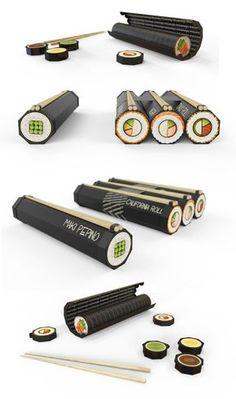 Desarrollo de packaging para delivery de sushi.