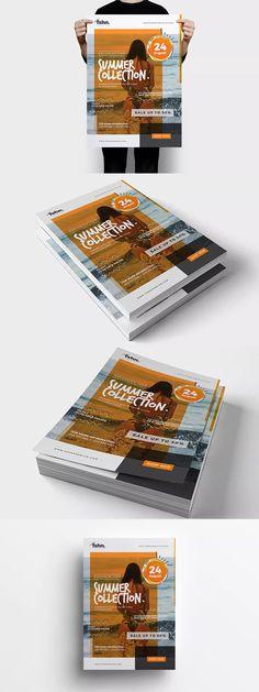Fshn Premium : Summer Collection Flyer Template PSD - A3