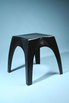 Yki Nummi, Enameled Fiberglass 'Lotus' Stool for Sanka Oy,1964.