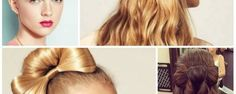 Moderné mašle vytvorené z vlasov
