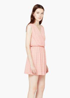 Šaty s překříženým výstřihem | MANGO