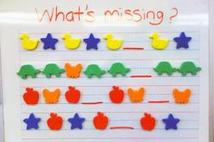 This looks like a fun activity that a teacher can use to work with patterns.  The shapes used in this example would grab students attention because of the color and shapes.