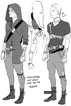 """Shadowhunter gear set (Sets #1-11) (#12) Set #13: """"Now we can blend in without glamours!"""" said the Shadowhunter designer who came up with this gear while failing to understand it was still kind of weird. Nevertheless, at least it's faster to put on..."""