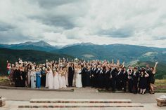 Group Photo - Vail Wedding Deck - Vail Wedding Photographer - Teresa Woodhull Photography