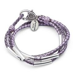 Mini Zazu leather wrap bracelet shown in Grape leather color, comes as shown